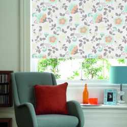 floral pattern roller blinds