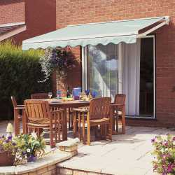 luxaflex awning on back garden