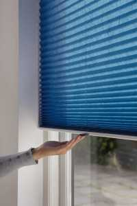 luxaflex blue pleated blinds