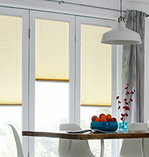 Light Yellow Bifold Door Blinds